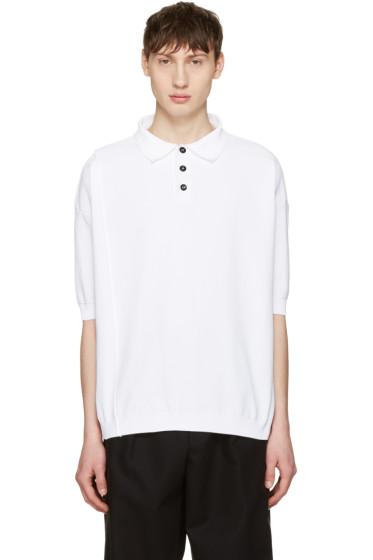 Raf Simons - White Oversized Polo