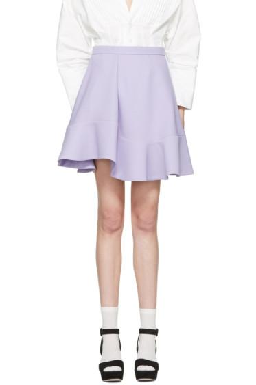 Carven - Purple Ruffle Skirt