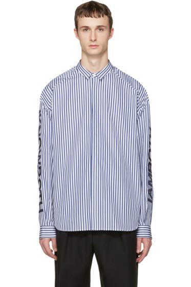 Juun.J - Navy Stripes Shirt