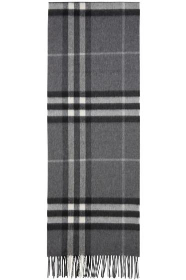 Burberry - Grey Check Giant Icon Scarf