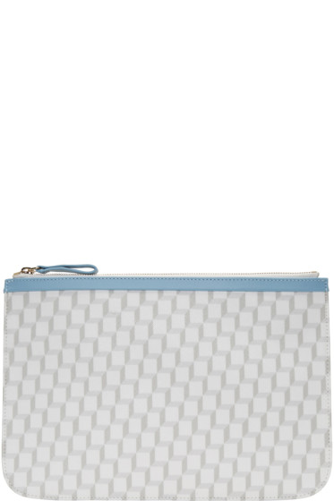 Pierre Hardy - SSENSE Exclusive White Large Perspective Cube Pouch
