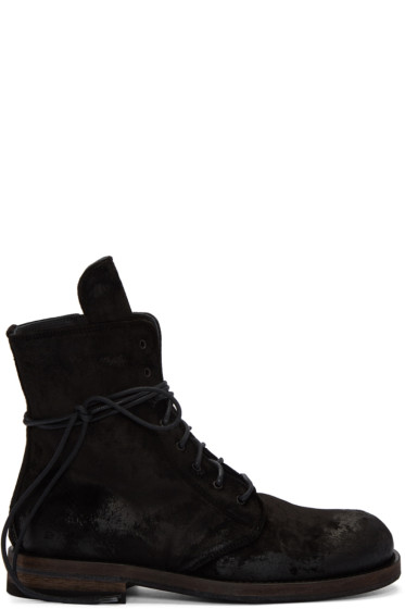 Ann Demeulemeester - Black Lace-Up Boots