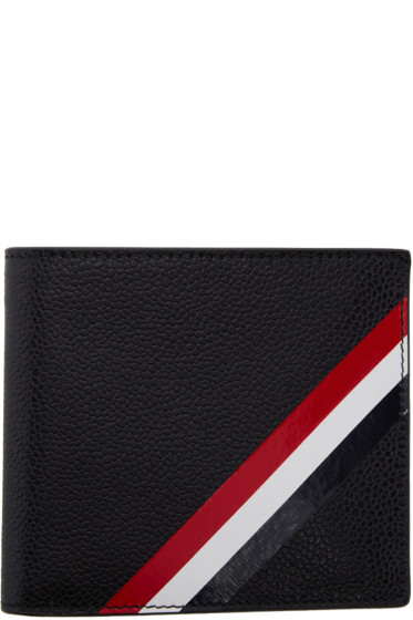 Thom Browne - Black Diagonal Stripe Wallet
