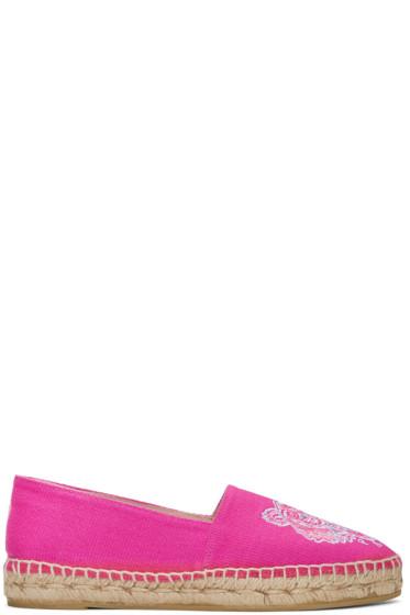 Kenzo - Pink Canvas Tiger Espadrilles
