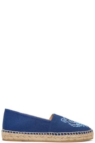 Kenzo - Blue Canvas Tiger Espadrilles