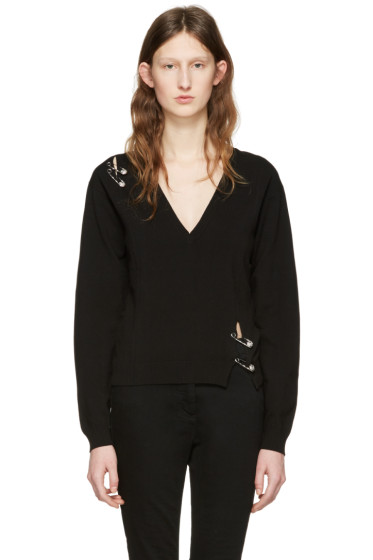 Versus - Black Safety Pin Pullover