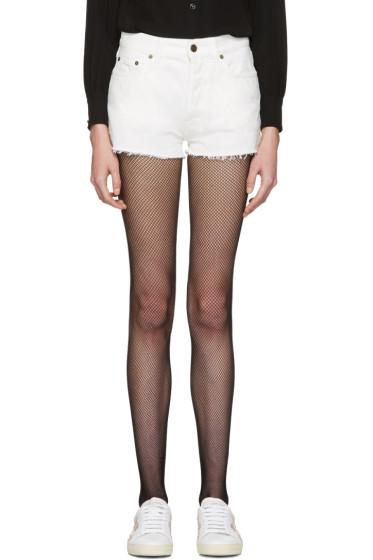 Saint Laurent - White Denim Boyfriend Shorts