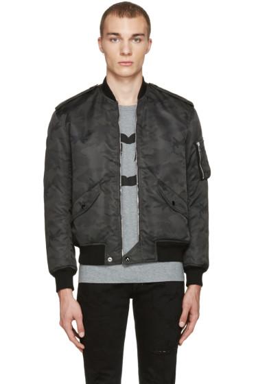 Saint Laurent - Black Camo Bomber Jacket