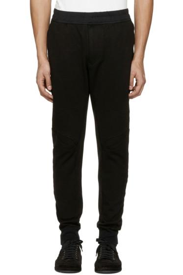 Julius - Black Knee Details Lounge Pants