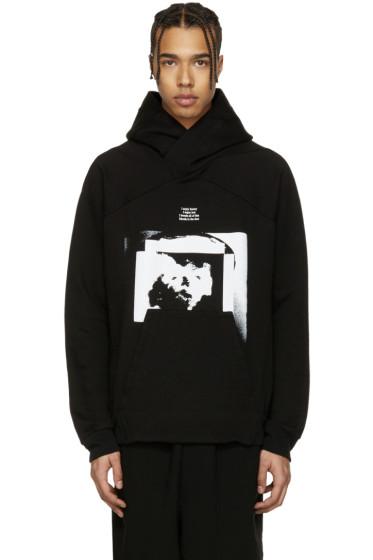 Julius - Black Print Hoodie