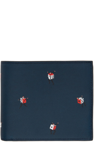 PS by Paul Smith - Navy Dancing Dice Wallet