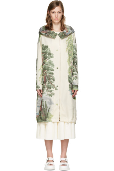 Stella McCartney - Off-White Landscape Parka