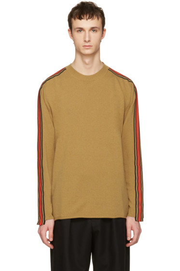 Stella McCartney - Tan Cashmere Stripe Sweater