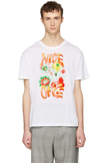 Stella McCartney - White 'Nice One' T-Shirt