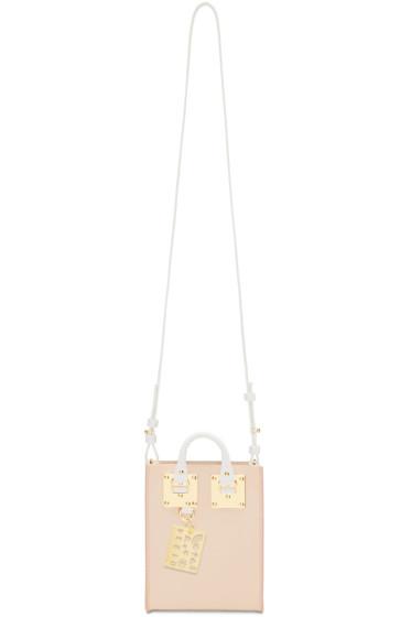 Sophie Hulme - SSENSE Exclusive Pink & White Nano Albion Tote Bag