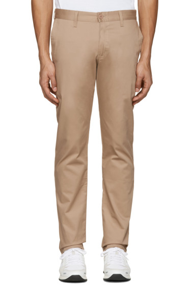 Naked & Famous Denim - Beige Slim Chino Trousers