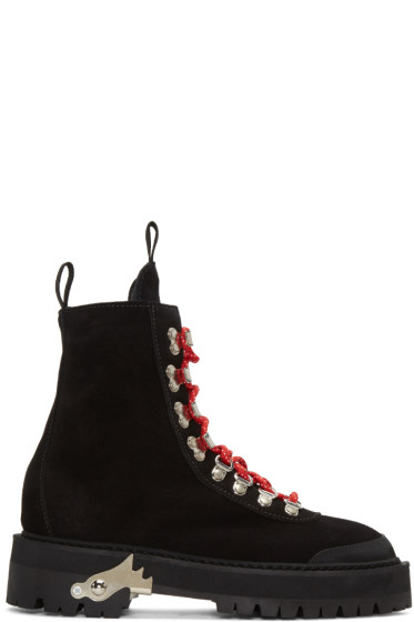 Off-White - Black Suede Hiking Boots