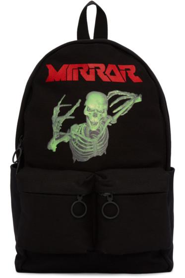 Off-White - Black Skull Mirror Backpack