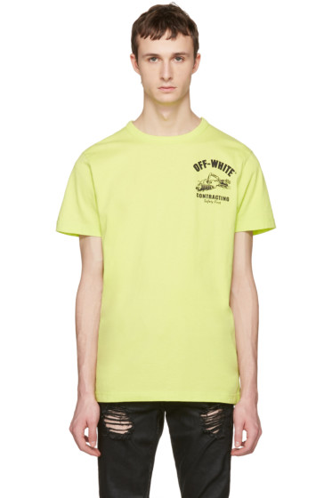 Off-White - Green Construction T-Shirt