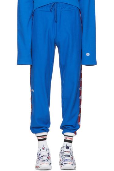 Vetements - Blue Champion Edition Lounge Pants