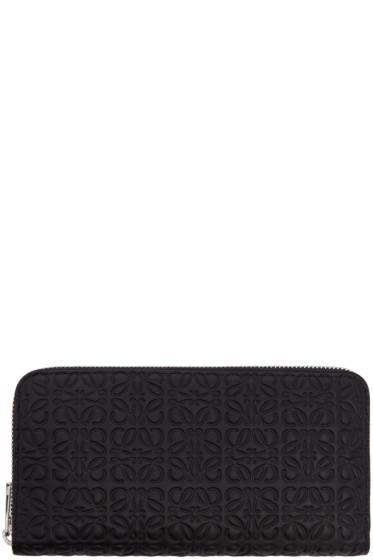 Loewe - Black Zip Around Anagram Wallet