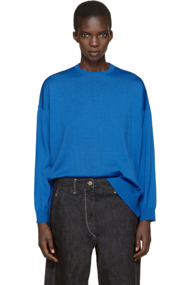 Enfold - Blue Wool Pullover