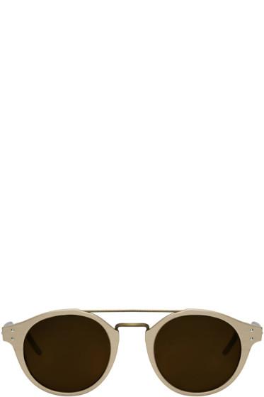 Bottega Veneta - Gold Retro Pantos Sunglasses