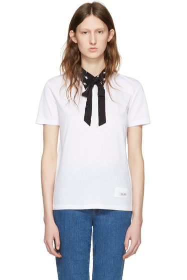 Miu Miu - White Cat Collar T-Shirt