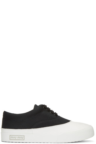 Miu Miu - Black Gabardine Sneakers