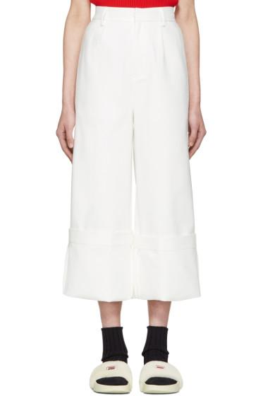 Shushu/Tong - White Wild Ham Trousers