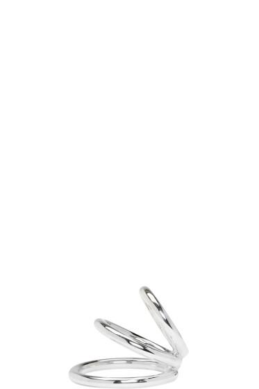 Saskia Diez - Silver Bold Wire Triple Ear Cuff
