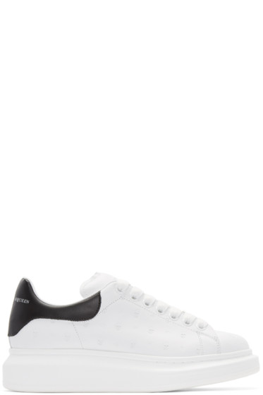 Alexander McQueen - White Leather Embossed Sneakers