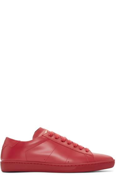 Saint Laurent - Red Court Classic Sneakers