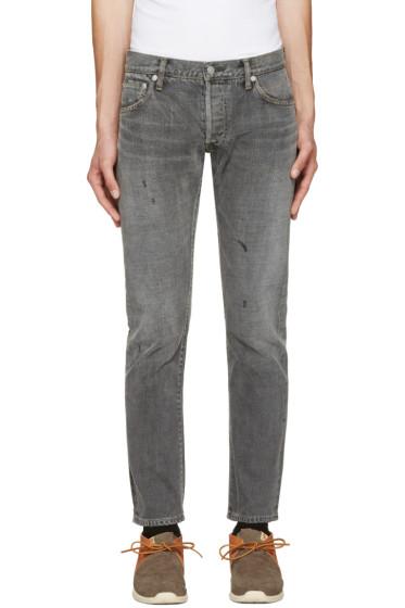 Visvim - Black Social Sculpture 10 Damaged Jeans