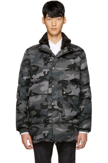 Moncler Gamme Bleu - Grey Quilted Down Camo Jacket
