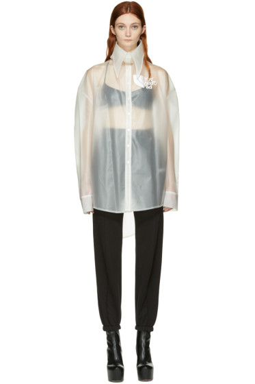 Hood by Air - Transparent Latex Pilgrim Shirt