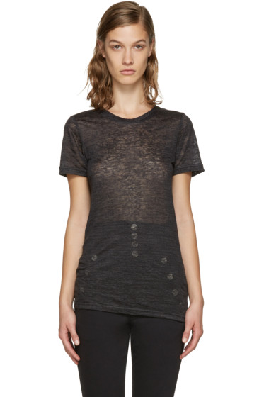Isabel Marant - Black Madras T-Shirt