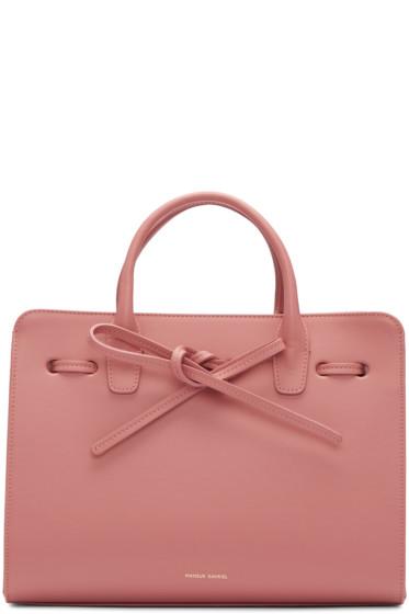 Mansur Gavriel - Pink Leather Mini Sun Tote
