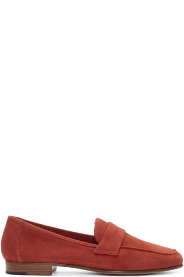 Mansur Gavriel - Red Suede Classic Loafers