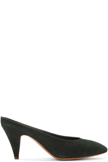 Mansur Gavriel - Green Classic Slipper Heels