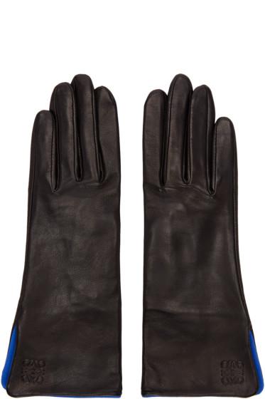 Loewe - Black Lambskin Gloves