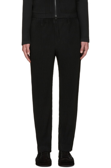Homme Plissé Issey Miyake - Black Pleated Tailored Trousers