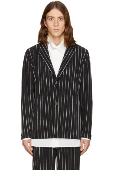 Homme Plissé Issey Miyake - Black Striped Blazer