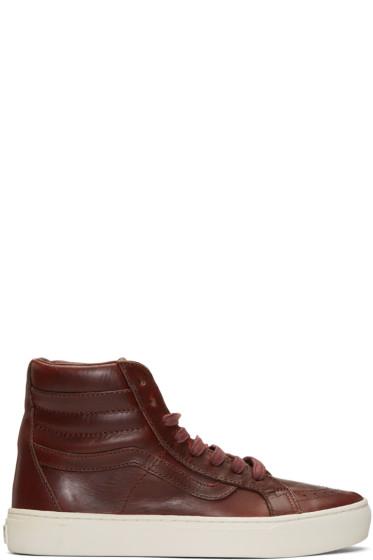 Vans - Burgundy Horween Edition Sk8-Hi Cup LX Sneakers