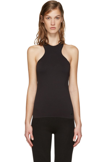 Y-3 SPORT - Black Fine Knit Tank Top