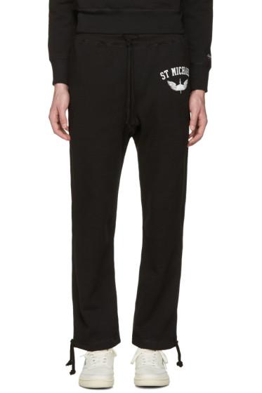 Noah - Black 'St. Michael' Lounge Pants