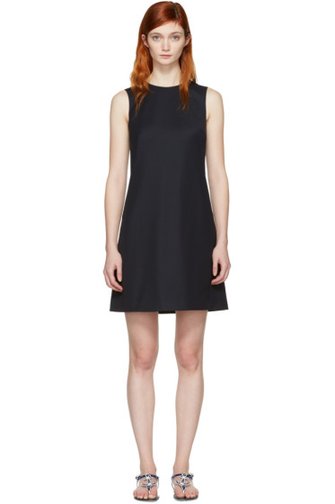 Dolce & Gabbana - Navy Wool Shift Dress