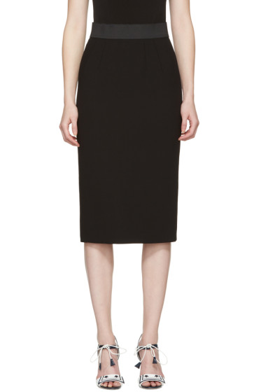 Dolce & Gabbana - Black Wool Pencil Skirt