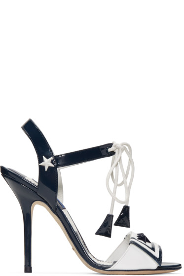 Dolce & Gabbana - Navy Patent Sailor Sandals