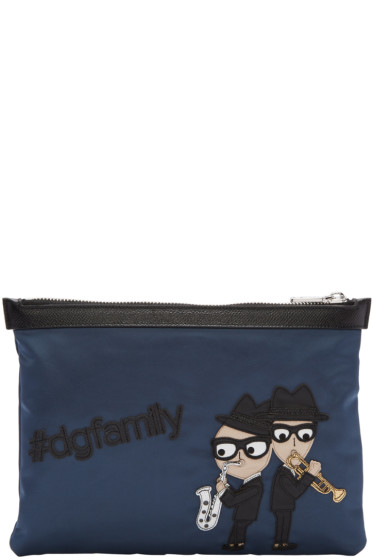 Dolce & Gabbana - Blue Nylon Sax Players Pouch